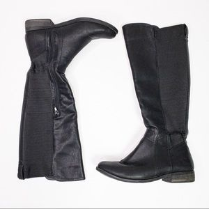 Rampage Illusion Faux Leather Knee High Boot Black